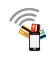 Mobile payments flat design vector image