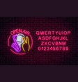 neon open air sign with microphone saxophone and vector image vector image