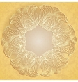Paper lace on beige background vector image