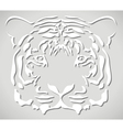 paper tiger head vector image