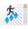 person climb ethereum flat icon with bonus vector image vector image