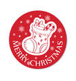 round christmas greeting card vector image vector image