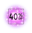 Sale banner 40 percents off vector image vector image