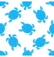 seamless pattern with sea turtles cheloniidae vector image vector image