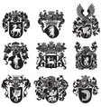 set heraldic silhouettes no5 vector image