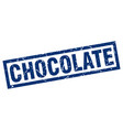 square grunge blue chocolate stamp vector image vector image