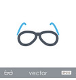 sunglasses outline icon summer vacation vector image