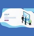 ui ux user interface and user experience banner vector image