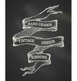 vintage chalk ribbon banner vector image