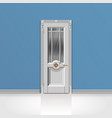 white entrance door vector image vector image