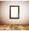 Wooden rectangular 3d photo frame EPS 10 vector image vector image