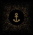 golden anchor symbol vector image