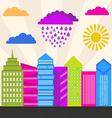 Modern city vector image
