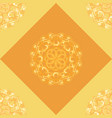 seamless pattern with orange ornamental decor vector image