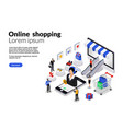 17isometric flat online shopping for web vector image vector image