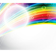 Abstract festive rainbow background vector image vector image