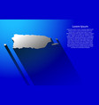 abstract map of puerto rico with long shadow on vector image vector image