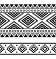 aztec tribal geometric seamless two pattern vector image vector image