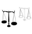 black justice scales vector image vector image