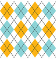 blue and orange trendy argyle seamless pattern vector image vector image