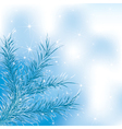blue xmass tree vector image