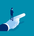 boss pointing way forward isometric business vector image vector image