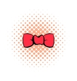 Butterfly tie comics icon vector image vector image
