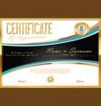 certificate retro design template 08 vector image