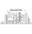 China hong kong architecture line skyline