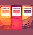 chocolate bar packaging template design chocolate vector image vector image