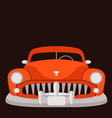 classic vintage car vector image vector image