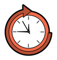 clock with arrow time icon image vector image vector image