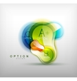 Colorful glossy bubble infographics vector image