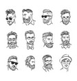 concept of hipster portrait vector image