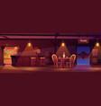 cowboy saloon western retro bar empty interior vector image vector image