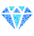 diamond collage of triangles vector image