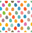 easter eggs silhouettes seamless pattern easter vector image