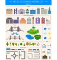 Elements of the modern city on white background vector image vector image