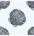 entangle stylized sea shell seamless pattern hand vector image