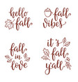 fall calligraphy set vector image