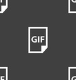 File GIF icon sign Seamless pattern on a gray vector image
