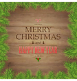 Fir Tree Branches And Christmas Text vector image vector image