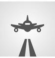 Flat gray landing plane vector image