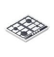 Gas-stove detailed isometric icon vector image vector image