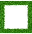 Green grass Square frame with copy-space 2 vector image