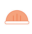 helmet construction isolated icon vector image vector image