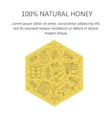 Honey card with thin line icons vector image vector image
