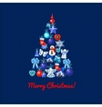 Image of Christmas trees in toys vector image