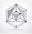 isometric abstract black and white background vector image vector image