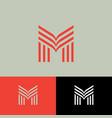 m monogram letter consist linear element vector image vector image
